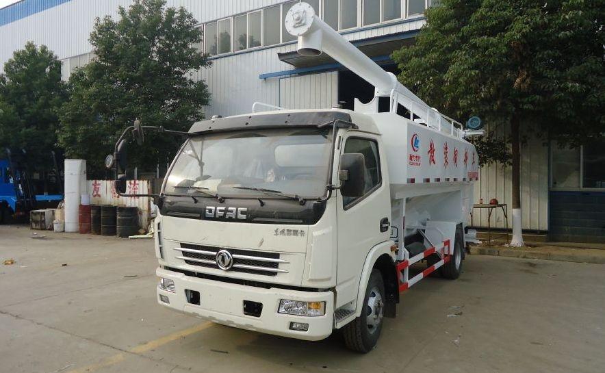 东风多利卡8吨散装饲料运输车(国四)