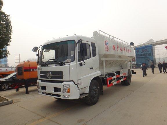 东风天锦10吨散装饲料运输车(国4)