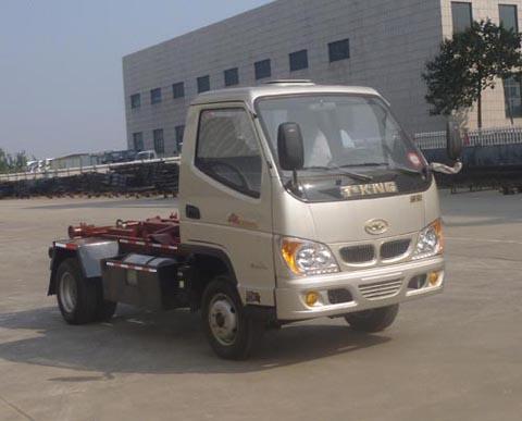 唐骏欧铃双燃料勾臂式垃圾车(汽油/CNG两用燃料)