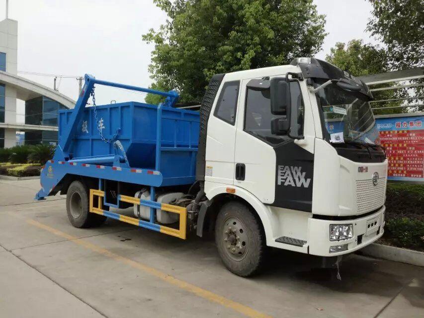 解放J6摆臂垃圾车(10方)