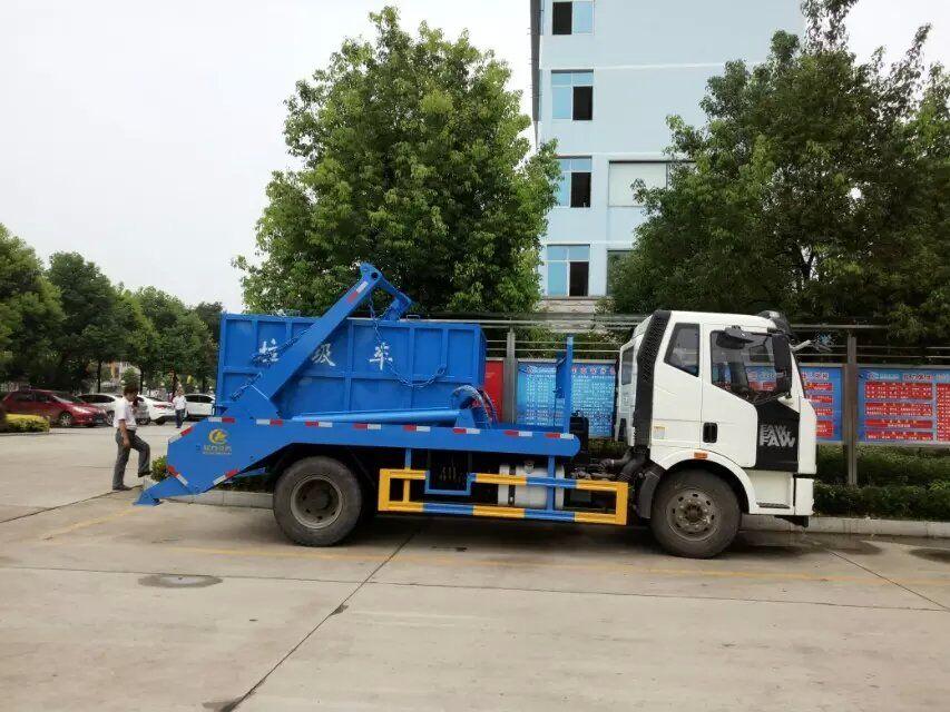 解放J6摆臂式垃圾车
