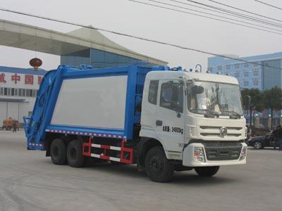 东风特商后八轮压缩式垃圾车(16立方)