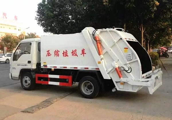 福田时代压缩式垃圾车(4方蓝牌)
