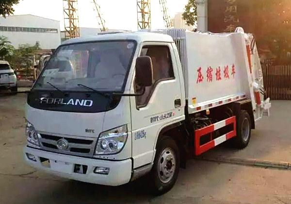 福田时代压缩式垃圾车(3方蓝牌)