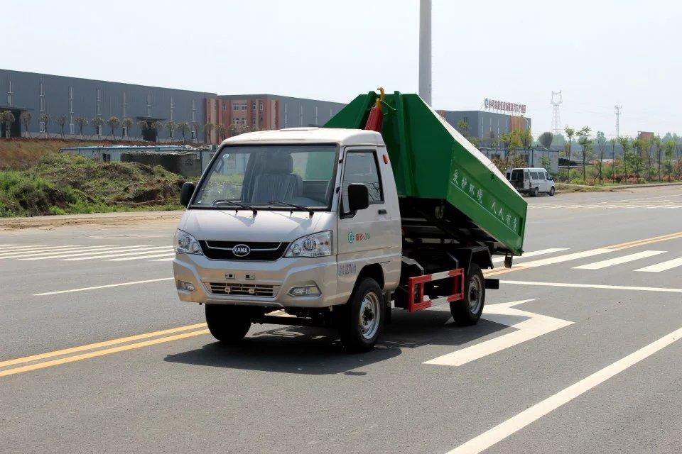 凯马双燃料勾臂式垃圾车
