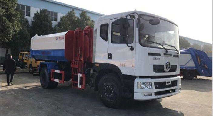 东风D9侧装挂桶式垃圾车(10~12立方)