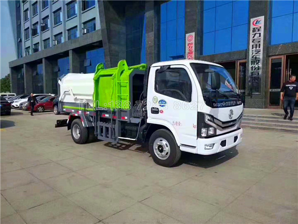 达到国六排放标准的东风侧装压缩垃圾车即将上市