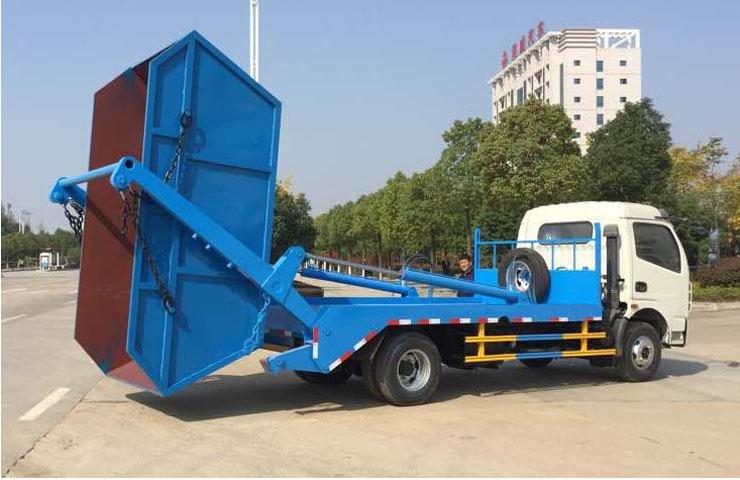 看图让你秒懂摆臂式垃圾车怎么卸垃圾