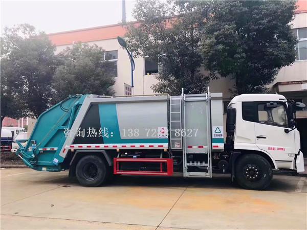 收集可回收垃圾和不可回收垃圾用什么车?东风天锦分捡垃圾运输车来帮忙