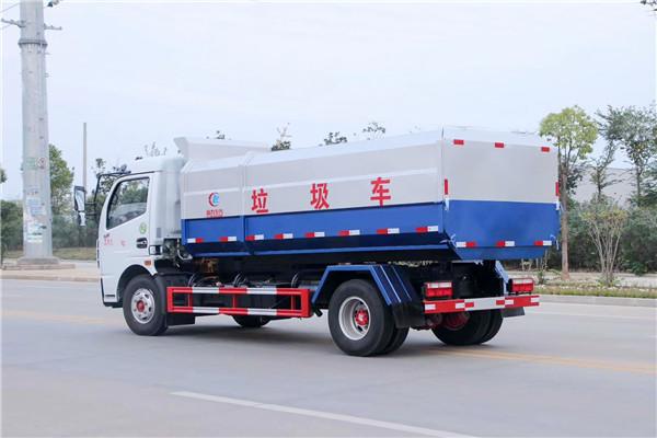 东风多利卡挂桶式垃圾车(8方)