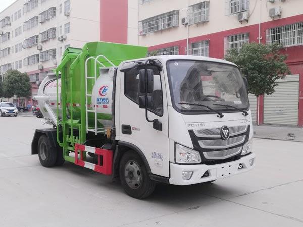 福田欧马可国六餐厨垃圾车