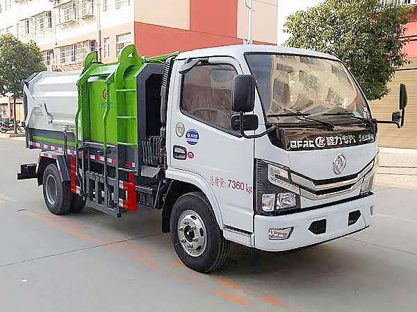 两款国六侧装挂桶式压缩垃圾车上市