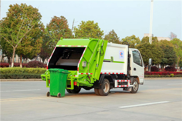 凯马蓝牌压缩垃圾车图片