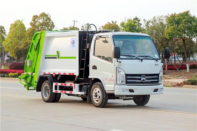 凯马国六蓝牌压缩式垃圾车(4方)