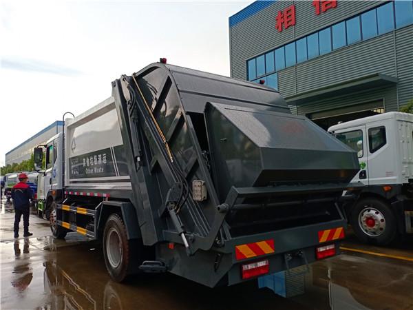 西安环卫公司自提一台国六12方东风D9压缩式垃圾车