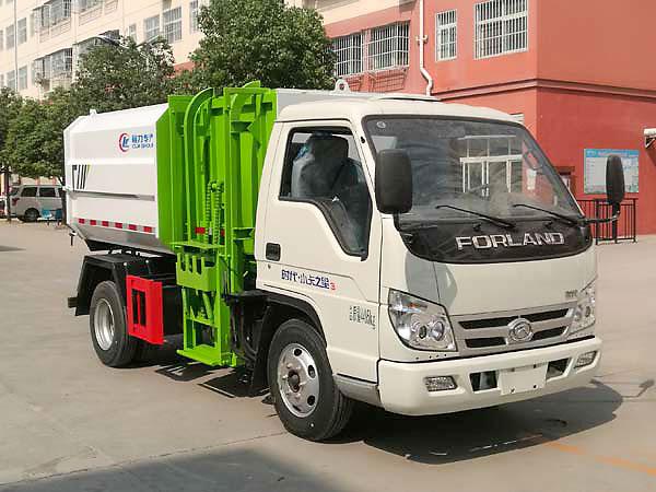 福田挂桶自卸垃圾车4方