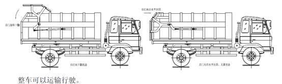 对接垃圾车结构